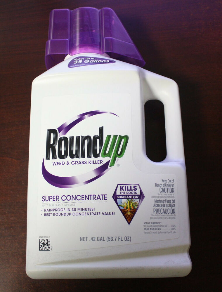 roundup round up super concentrate weed grass killer makes 35 gallons ebay. Black Bedroom Furniture Sets. Home Design Ideas