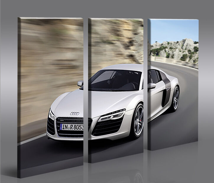 audi r8 v5 3p bild auf leinwand bilder kunstdruck wandbild poster ebay. Black Bedroom Furniture Sets. Home Design Ideas