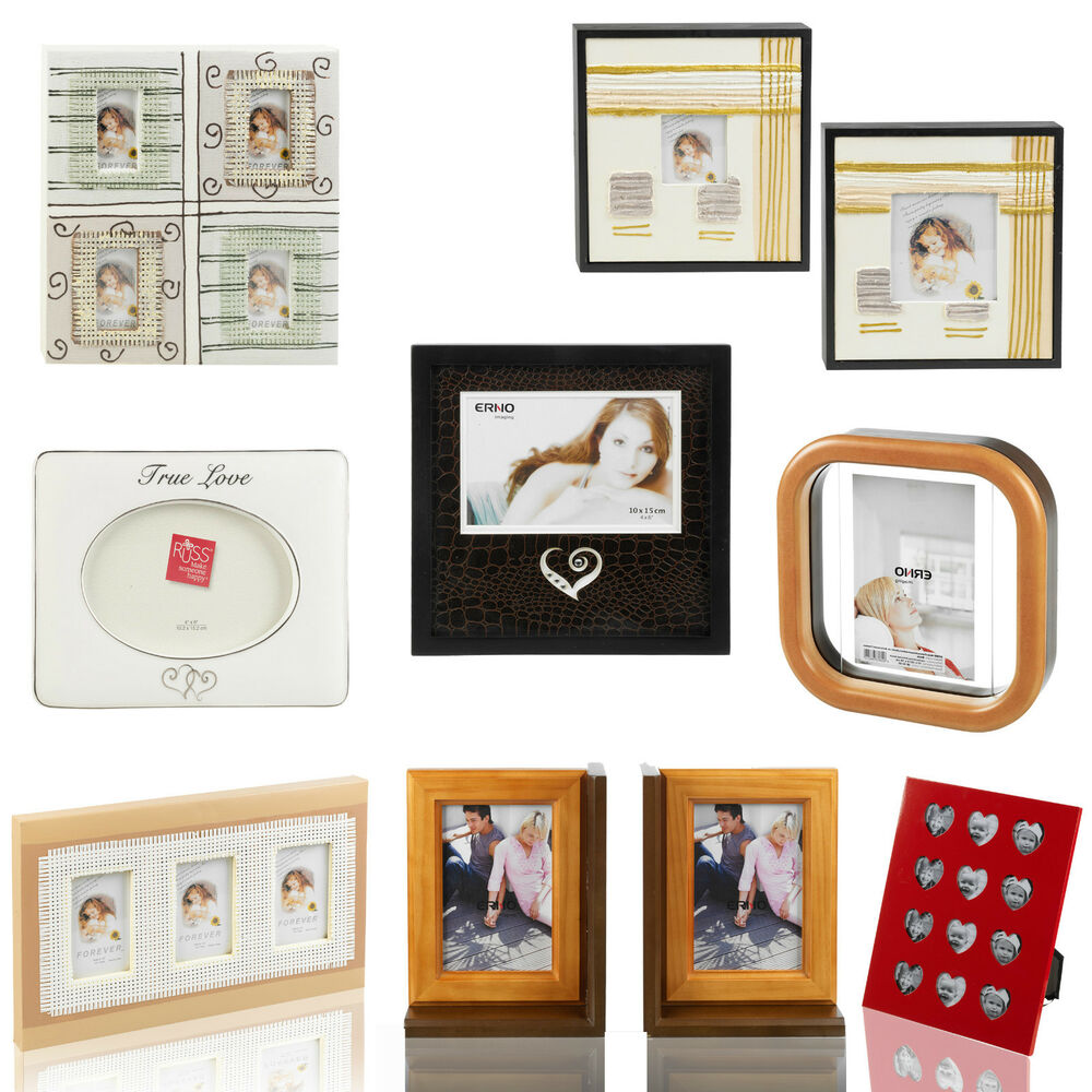 Designer wooden canvas photo picture frames holder wall for How to display picture frames on a table