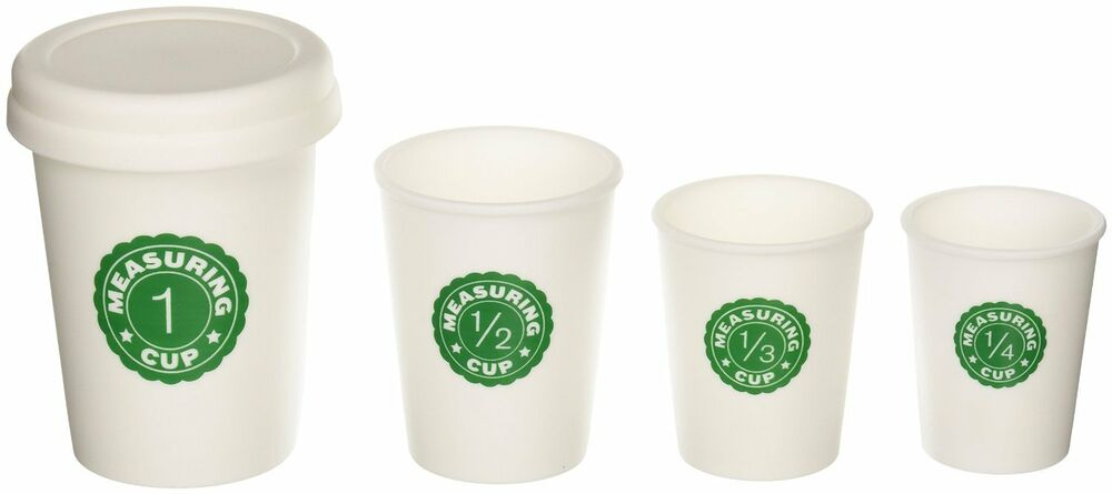 Kikkerland Coffee Cup Nesting Measuring Cups set of 4 cups ...