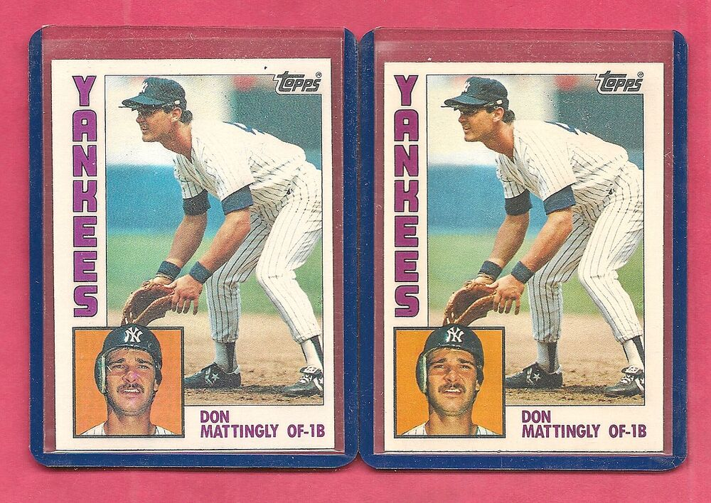 1 1984 Topps Don Mattingly New York Yankees 8 Baseball