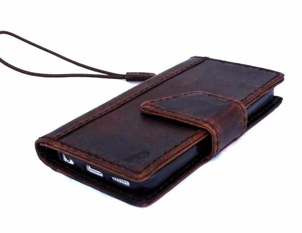 Old Leather Book Iphone Cover : Genuine vintage leather case for iphone se s c book