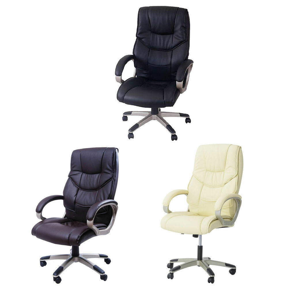 Adjustable Swivel Office Chairs Pu Leather Business