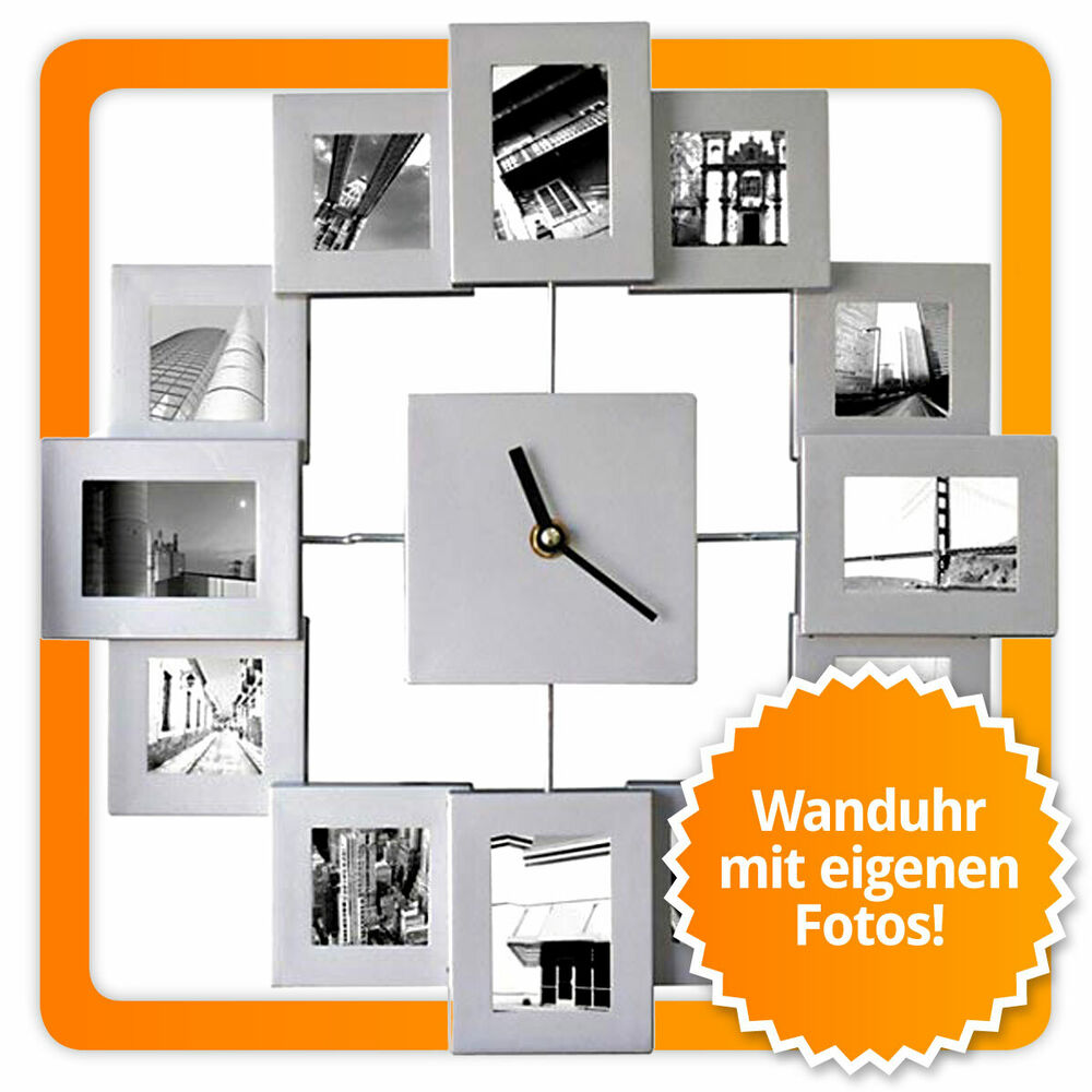 xxl bilderrahmenuhr fotorahmen wanduhr bilderrahmen uhr. Black Bedroom Furniture Sets. Home Design Ideas