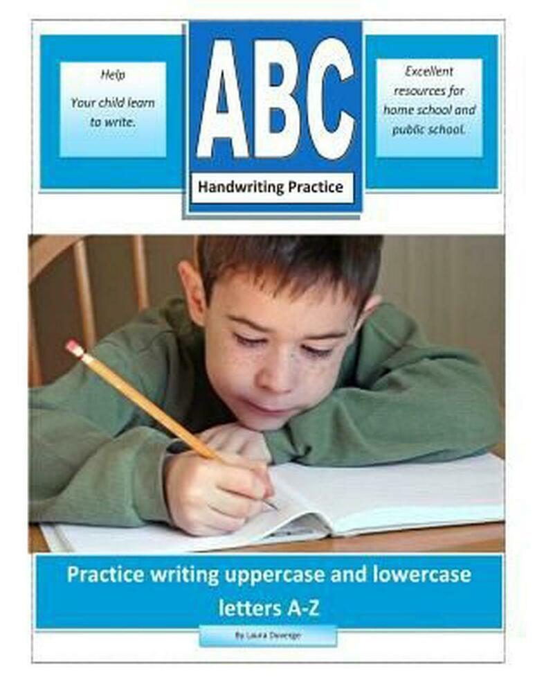 abc handwriting practice practice writing uppercase and lowercase letters a z b 1494869691 ebay. Black Bedroom Furniture Sets. Home Design Ideas