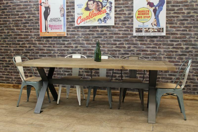 LARGE 18M STEEL AND RECLAIMED OAK FARMERS DINING TABLE  : s l1000 from www.ebay.co.uk size 800 x 532 jpeg 78kB