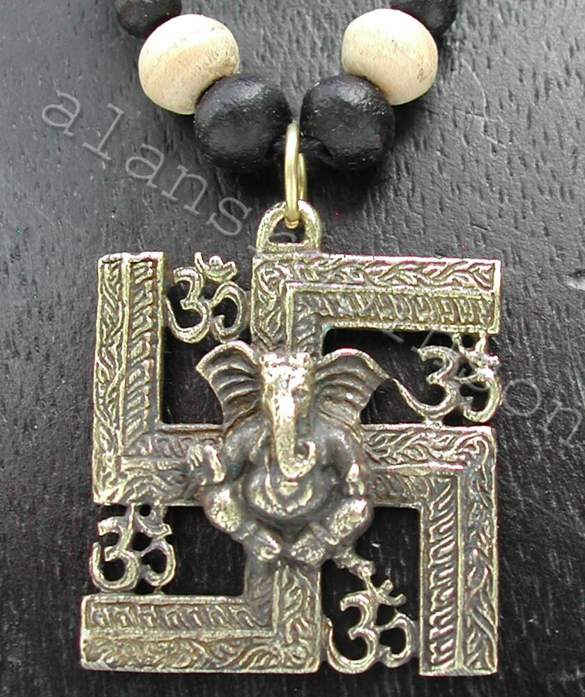 Ganesh Swastika Om Necklace Swastika Good Luck Symbol