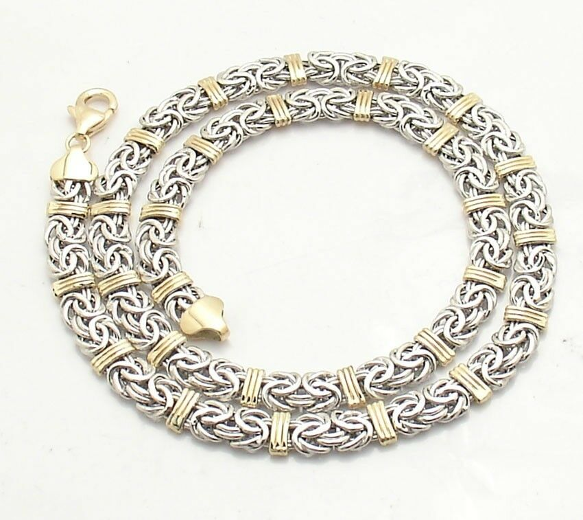 status byzantine chain necklace lobster clasp real 14k