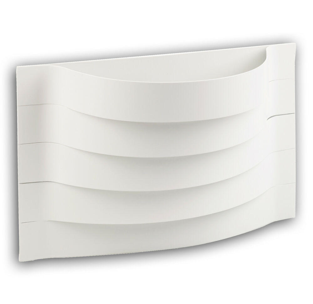 Wall Mounted Lamps Argos : White Contour Curved Wall Mounted Indoor Lamp Lighting Argos Uplight Hall Shade eBay