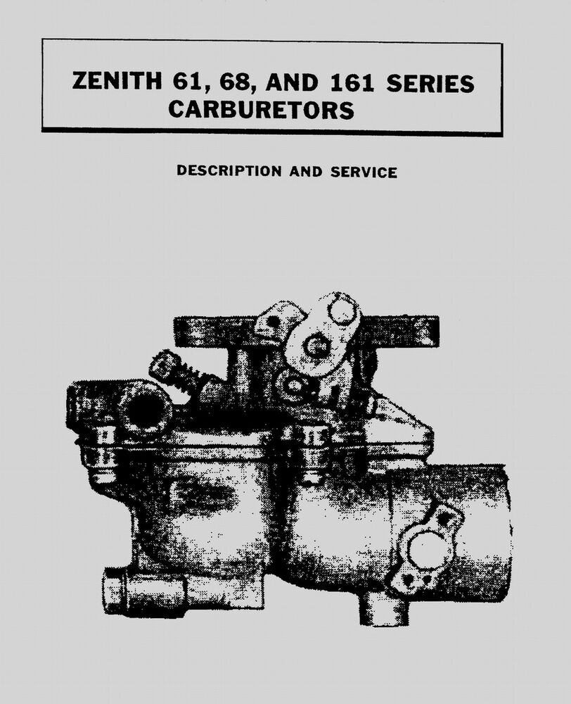 Zenith Carb Series 62 Related Keywords Suggestions Updraft Carburetor Diagram 61 68 And 161 Manual Ebay