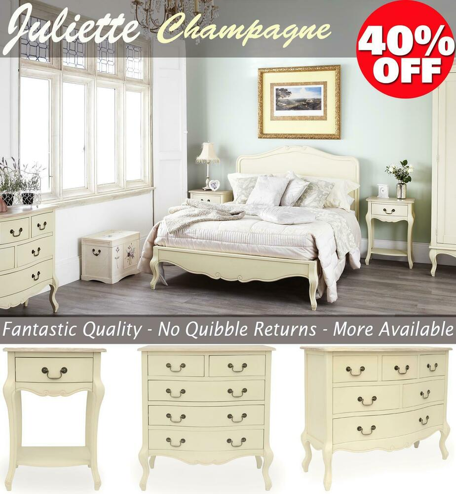 Shabby chic champagne furniture cream chest of drawers dressing table chests ebay