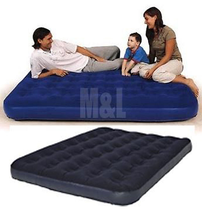 double single or king size airbed camping inflatable mattress air guest bed lilo ebay. Black Bedroom Furniture Sets. Home Design Ideas