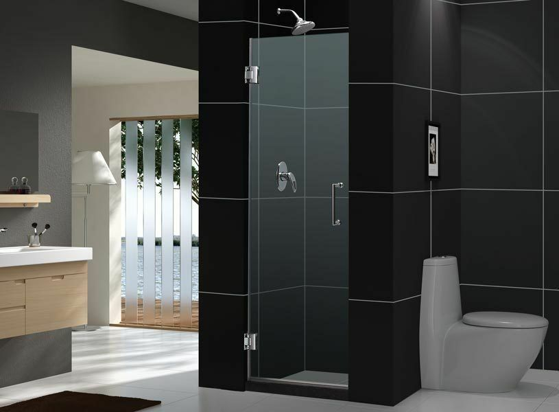 unidoor 24 x 72 dreamline frameless pivot shower door 3 8 glass custom size ebay. Black Bedroom Furniture Sets. Home Design Ideas