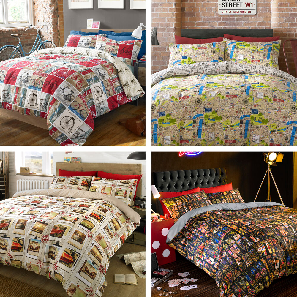 bedding new contemporary single double king size duvet quilt cover bedding set ebay. Black Bedroom Furniture Sets. Home Design Ideas