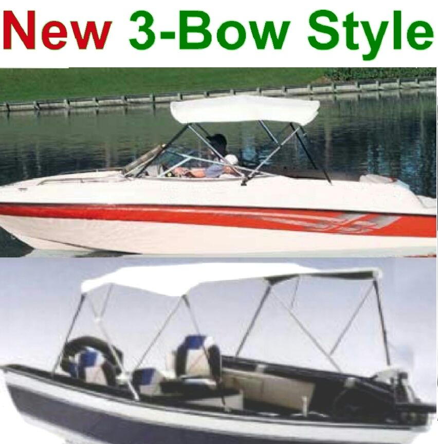 70 Quot 78 Quot Boat Bimini Top Cover 3 Bow Folding Frame Pontoon