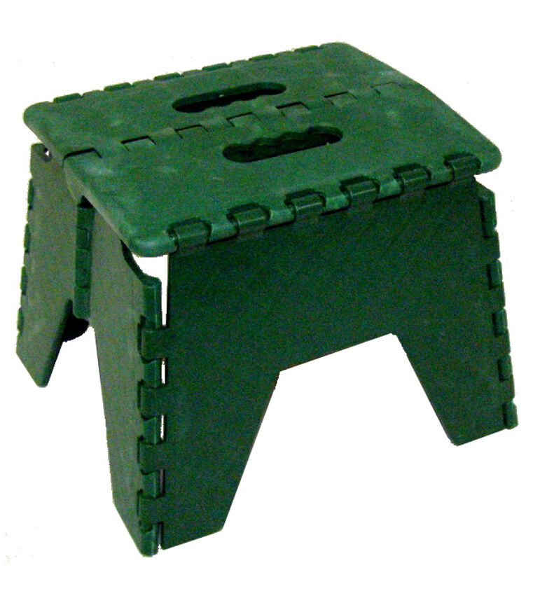 Green Folding Plastic Stepstool 300 Lb Pound Capacity