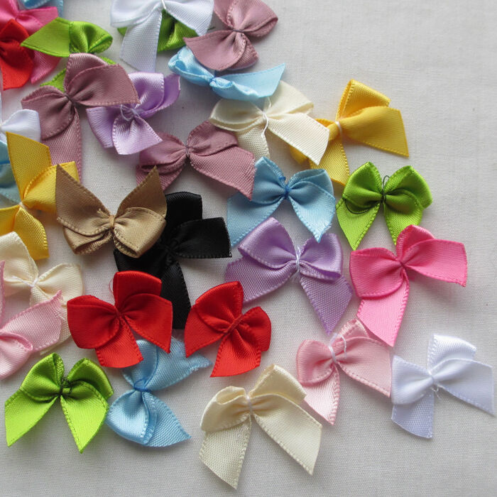 craft ideas with satin ribbon 60pcs mini satin ribbon flowers bows gift craft wedding 6345
