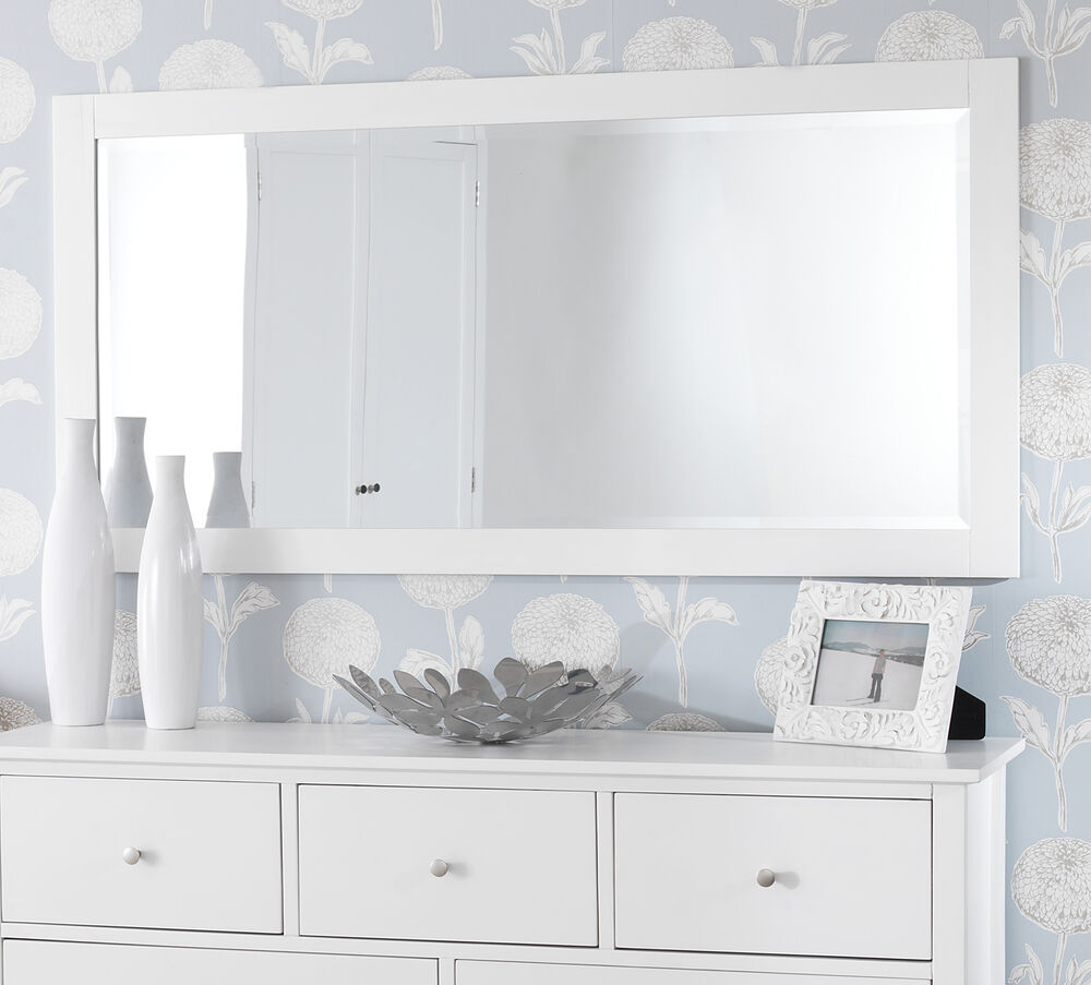 Edward hopper large white wall mirror large mirror 140cm for 6ft bathroom ideas