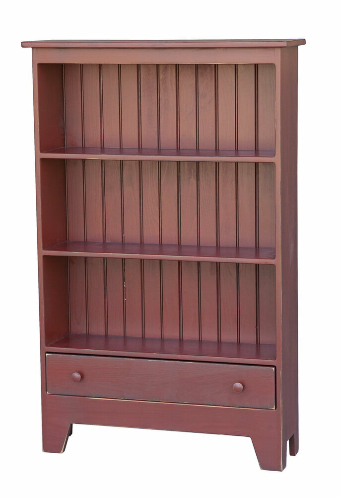 kitchen bookcases cabinets bookcase storage cabinet w drawer primitive amish handmade 2323
