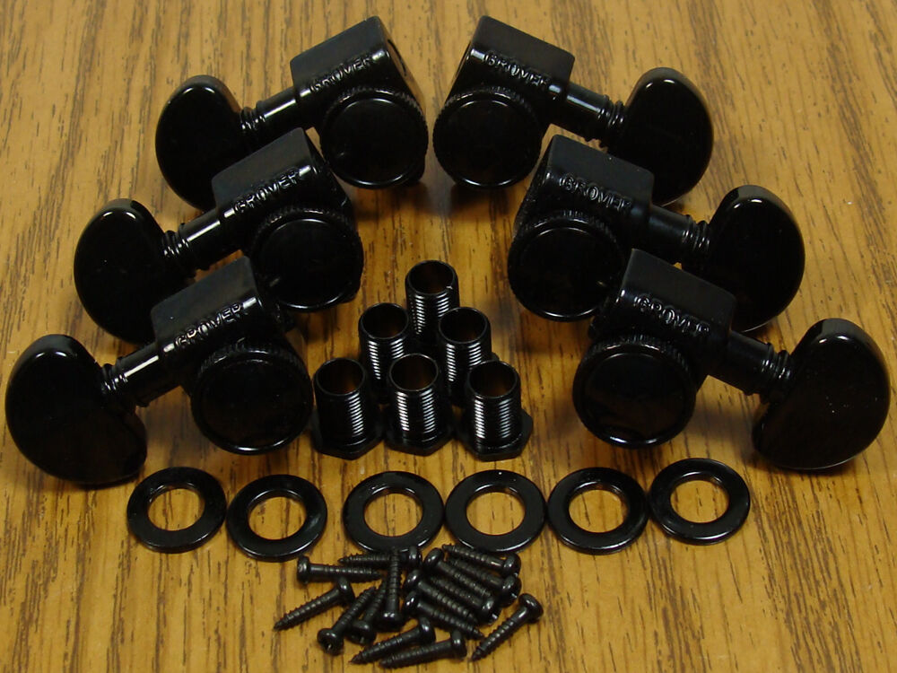 new grover locking black tuners 3x3 for gibson les paul sg guitar parts ebay. Black Bedroom Furniture Sets. Home Design Ideas