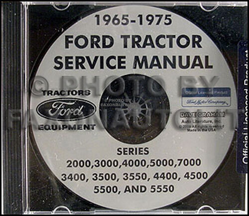 Ford 5000 Tractor Manual : Ford tractor  shop manual cd