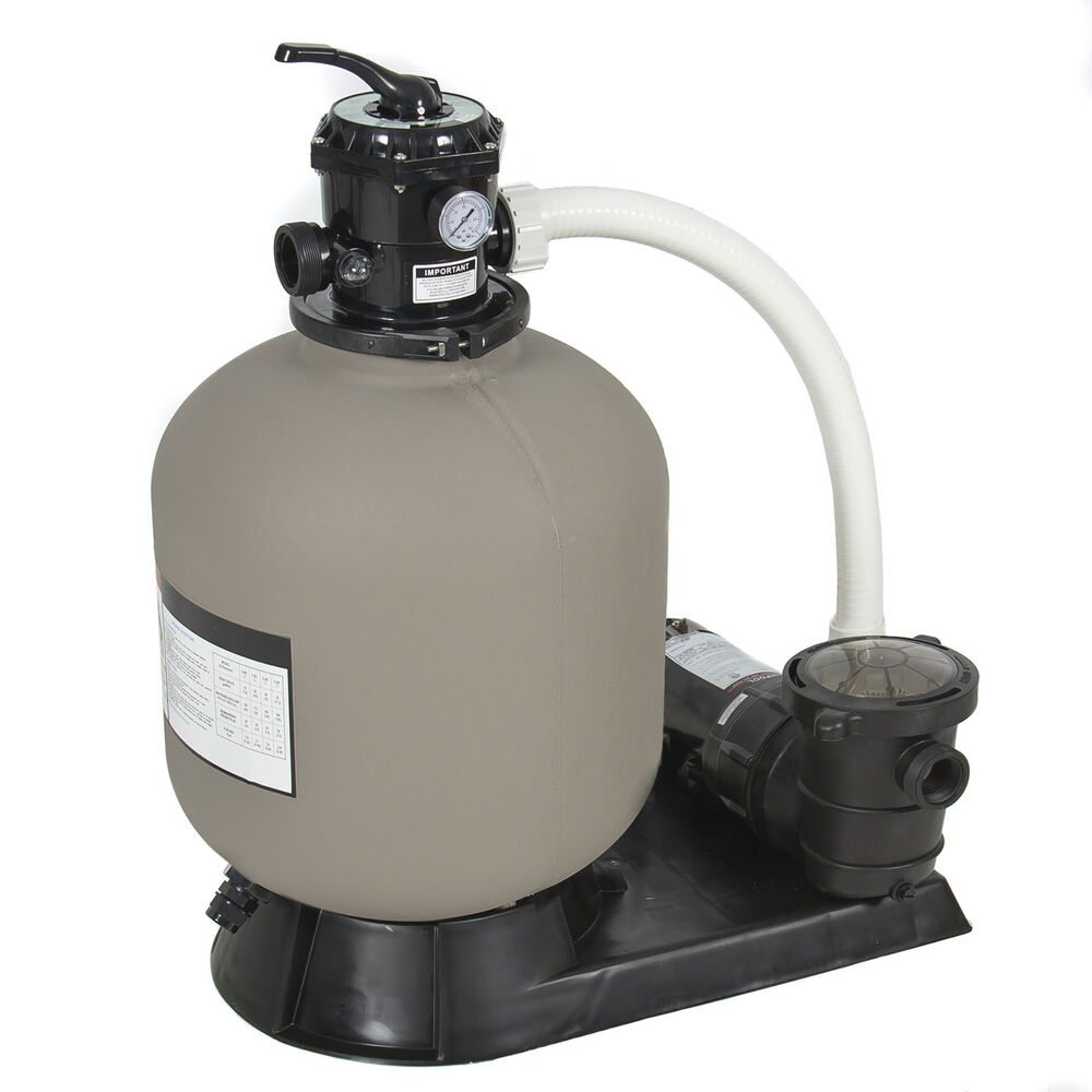 Pro above ground swimming pool pump system 4500gph 19 sand filter w 1 0hp ebay for Swimming pool pumps for above ground pools