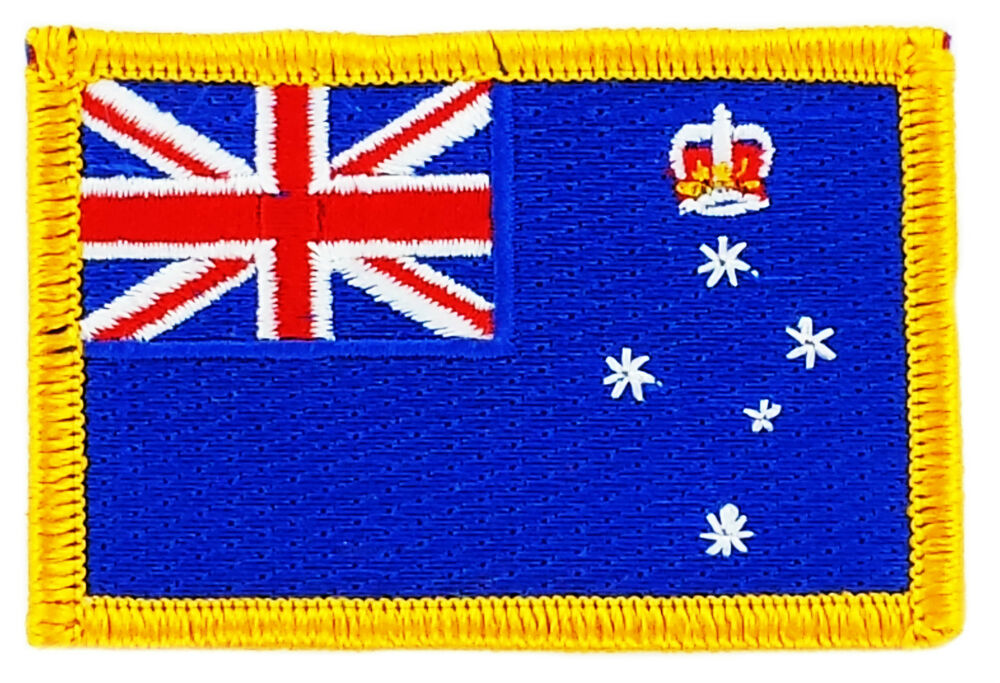 Flag patch patches victoria iron on embroidered australia