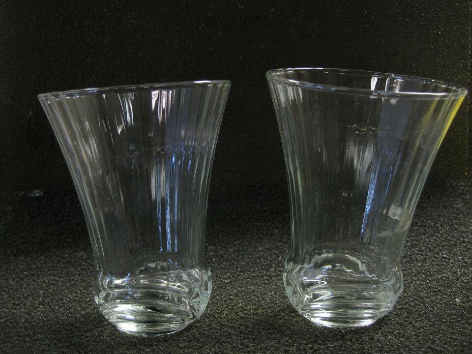 Home Interiors Clear Chantilly Design Votive Cups Set Of 2