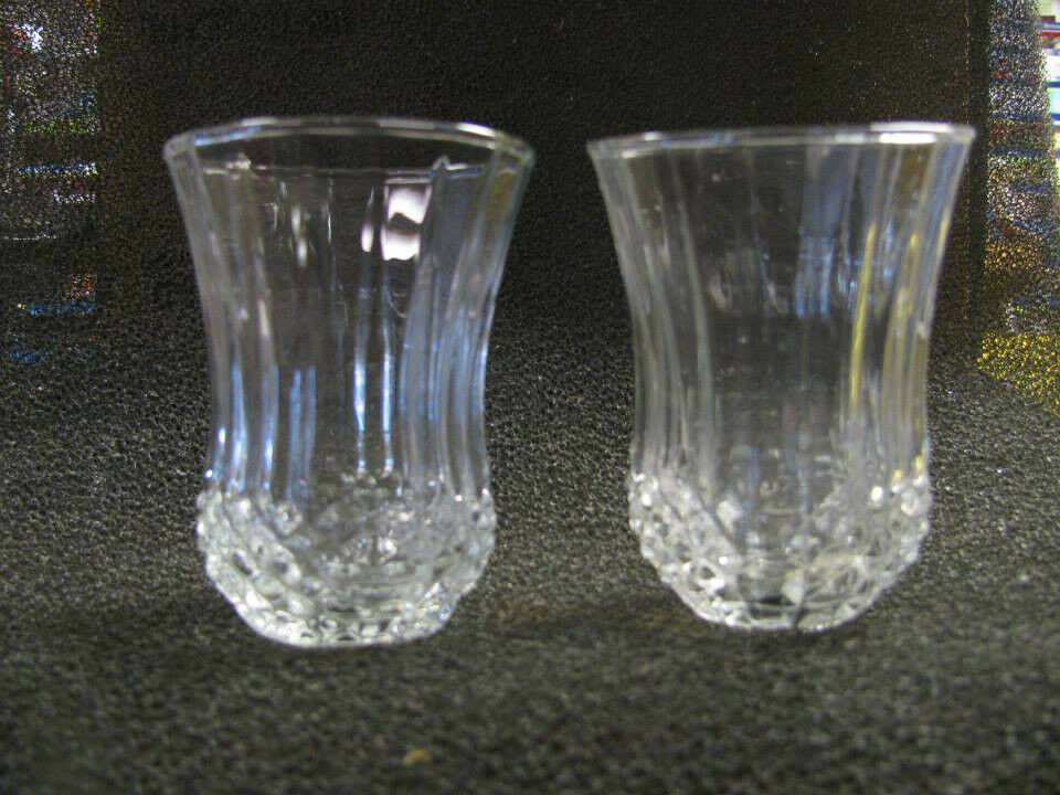 Home Interiors Medium Diamond Crystal Votive Cups Set Of 2