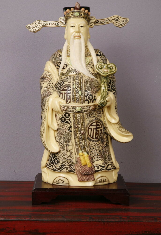 Chinese Carved Painted Wood