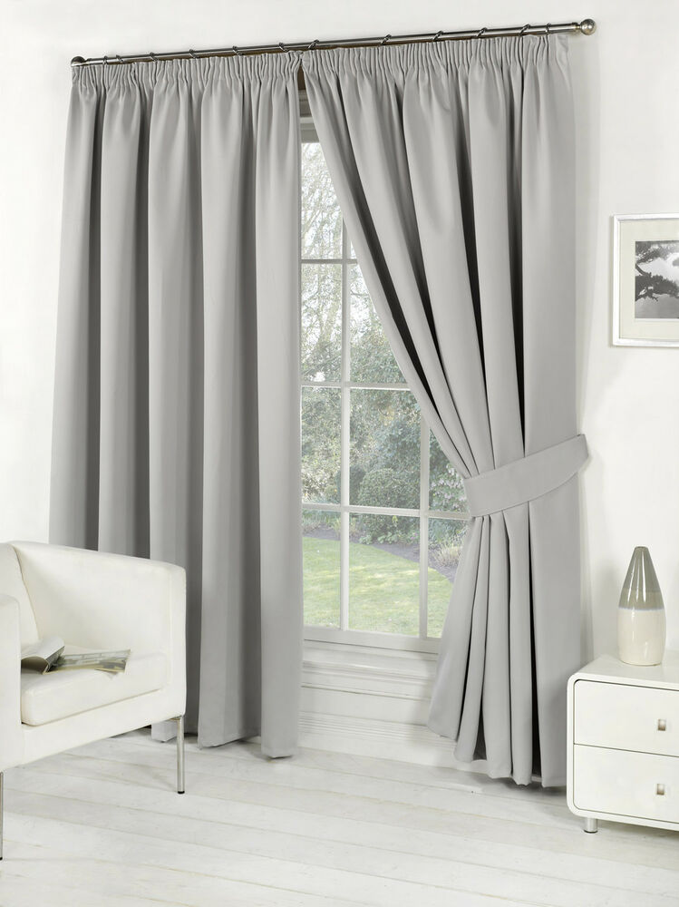 Pair Of Silver 46 X 72 Supersoft Blackout Thermal