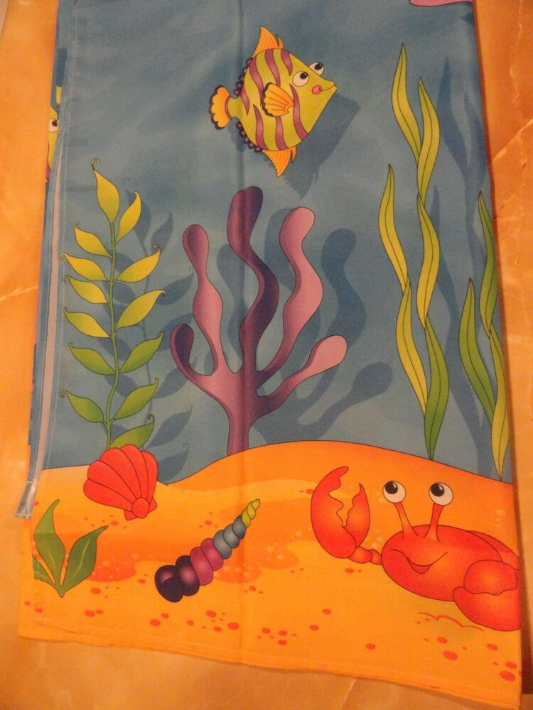 Tropical sea creatures crab fish colorful fabric shower curtain ebay