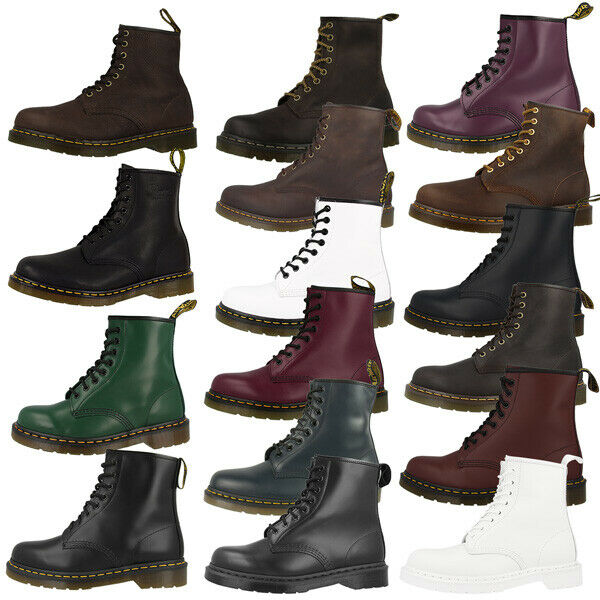 dr doc martens 1460 boots 8 loch leder stiefel schuhe viele farben ebay. Black Bedroom Furniture Sets. Home Design Ideas