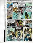 Original 1991 Avengers 328 page 29 Marvel Comics color guide art:1990's/She-Hulk