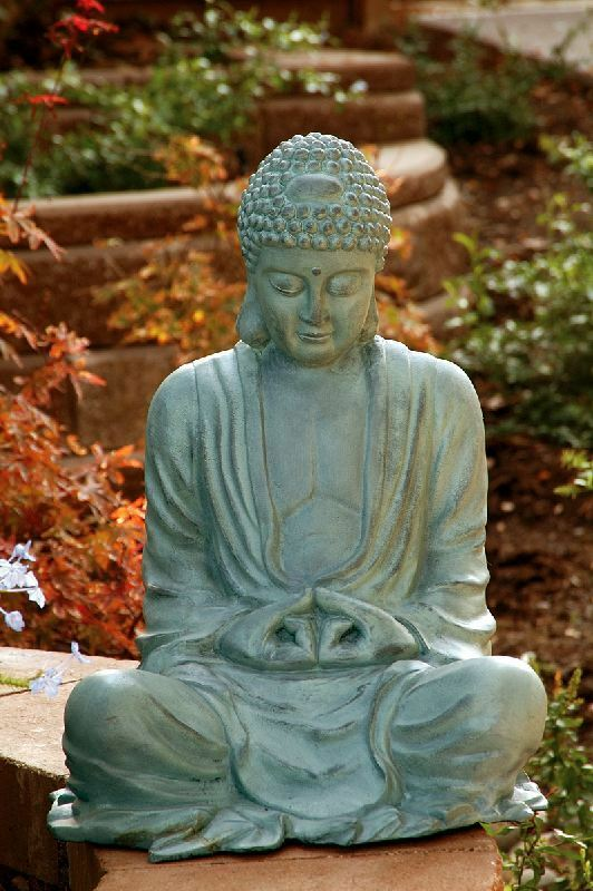 22 large garden buddha statue sculpture outdoor serenity inspirational ebay. Black Bedroom Furniture Sets. Home Design Ideas