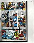 Original Avengers Marvel color guide art: Iron Man/She-Hulk/Captain America/Thor