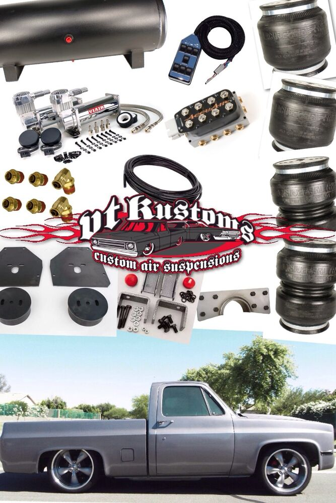 Air Bag Suspension Kits For Chevy Trucks >> 1973-1987 Chevy C-10 Pickup Air Bag Air Ride Suspension | eBay