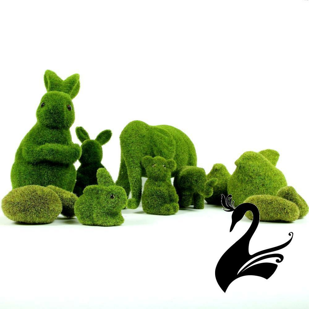 Moss artificial grass turf ornaments bunny rabbit 18cm for Home ornaments