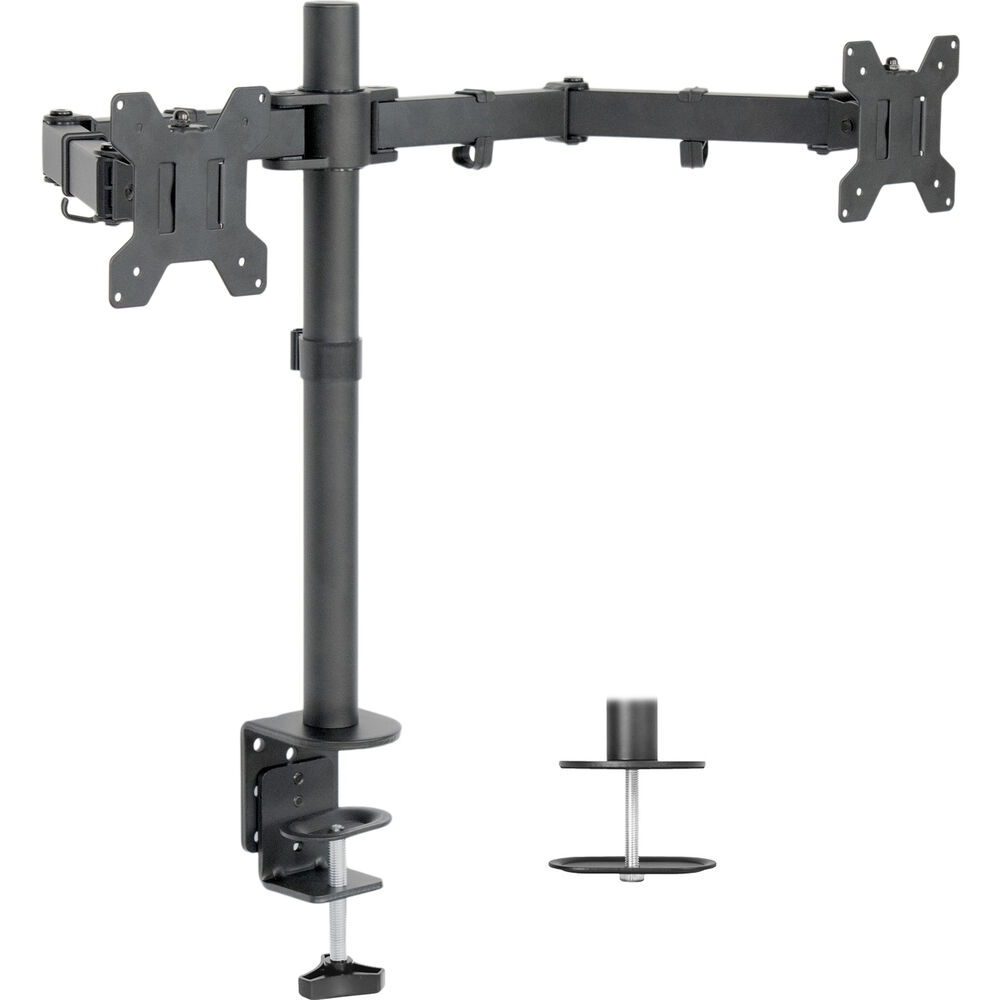 Used Dual Lcd Monitor Desk Mount Stand Heavy Duty Fully