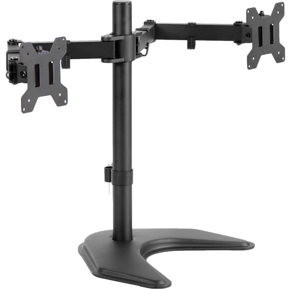 Used Dual Lcd Monitor Desk Stand Mount Free Standing