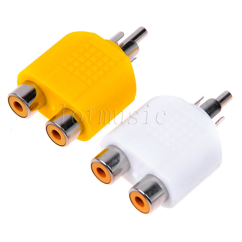 Rca Y Splitter Av Audio Video Plug Converter Yellow White