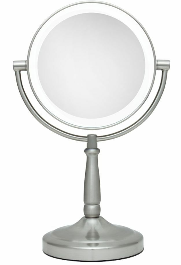 10x 1x cordless next generation led lighted vanity makeup mirror. Black Bedroom Furniture Sets. Home Design Ideas