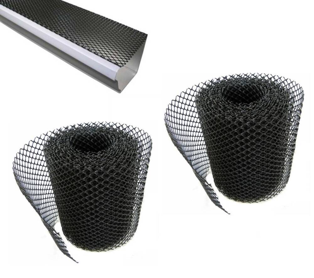 2x Gutter Guard Mesh Plastic Screen Stops Leaves Amp Debris