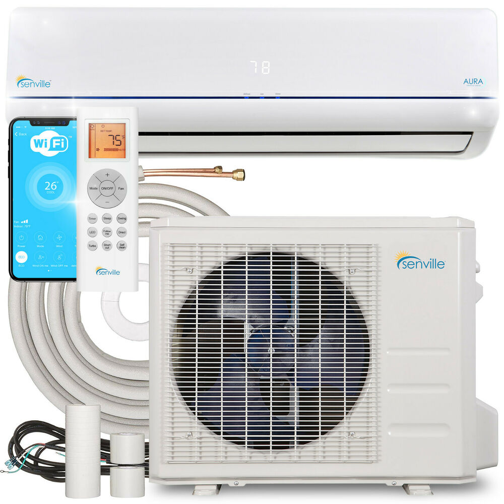 18000 btu ductless ac mini split air conditioner and heat for Ductless ac