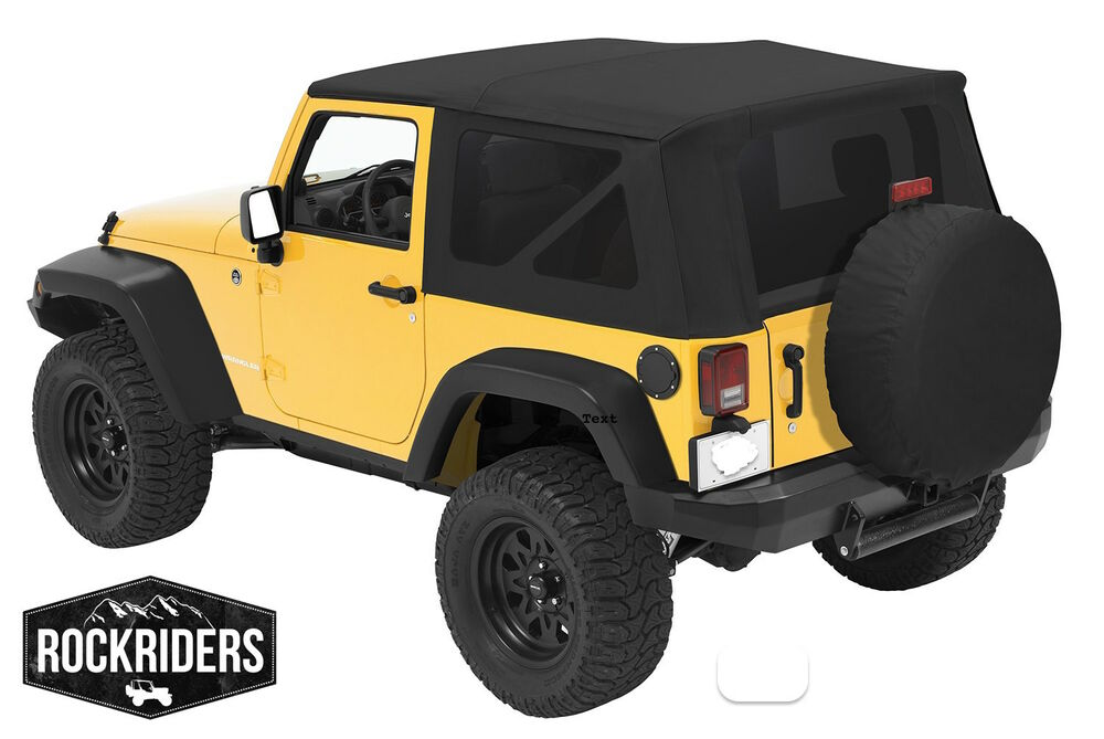 2010 2017 jeep wrangler 2 door replacement soft top with tinted rear windows ebay. Black Bedroom Furniture Sets. Home Design Ideas