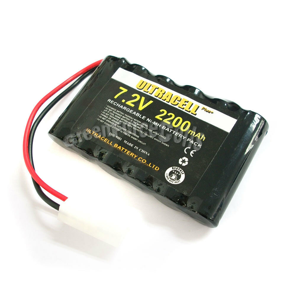 2 x 7 2v 2200mah ni mh rechargeable battery pack tamiya ebay. Black Bedroom Furniture Sets. Home Design Ideas