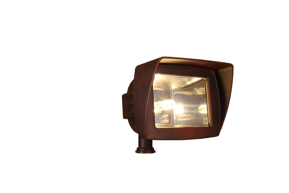 led 3 watt low voltage landscape lighting flood light in rust