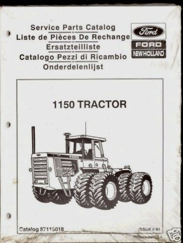 New Holland Tractor Manuals : New holland ford tractor parts manual ebay