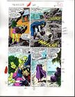 Original 1980's Avengers 291 Marvel color guide art page 4:She-Hulk/Black Knight