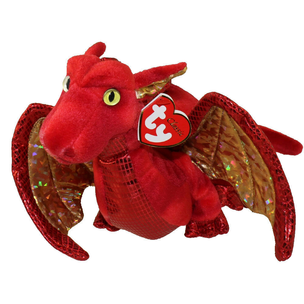 TY Classic Plush FOSSILS The Red Dragon MWMTs EBay